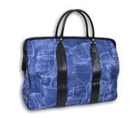 Denim Print Travel Bag