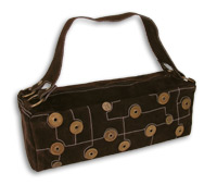 Button Appliqu� Satchel